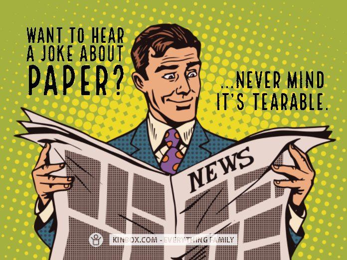 A JOKE ABOUT PAPER
