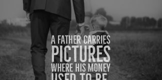 A FATHER CARRIES