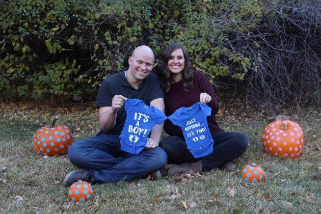 My Husband Died Two Months After Our Twins Were Born – Now They Are My Reason To Keep Going - Twin announcement photo credit Whitney Wilde 630x420