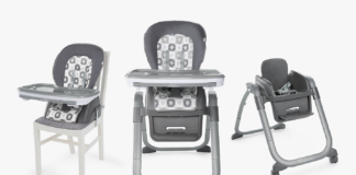 Smart And Versatile, The Ingenuity Smartserve 4-in-1 Highchair Grows With Your Child To Make Mealtimes A Breeze